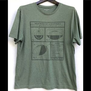 Vintage BANANA REPUBLIC football diagram t-shirt L